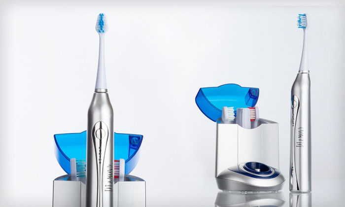 Diamond Ultrasonic Toothbrush with UV Sanitizer
